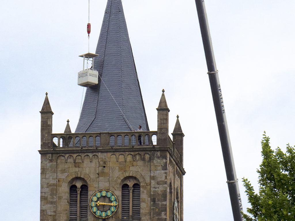Neue Blitzableiter für die Christuskirche