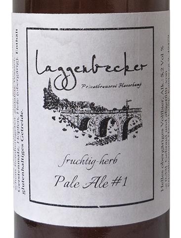 Etikett Laggenbecker Pale Ale #1