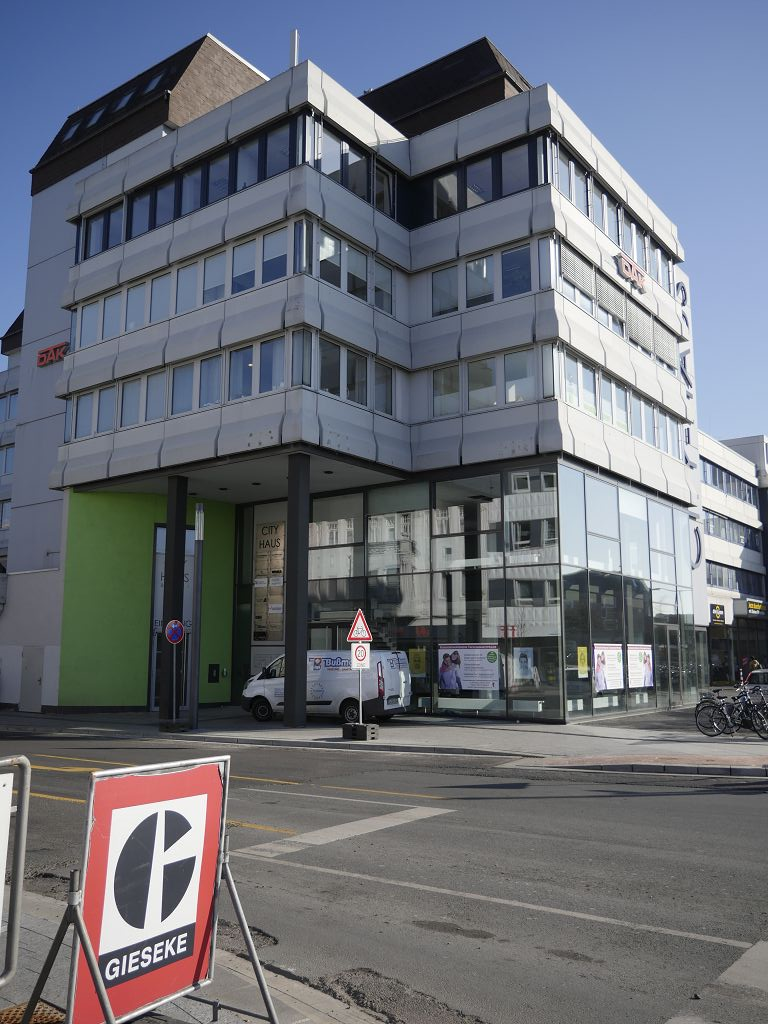 Außenwerbung am City-Haus in Rheine