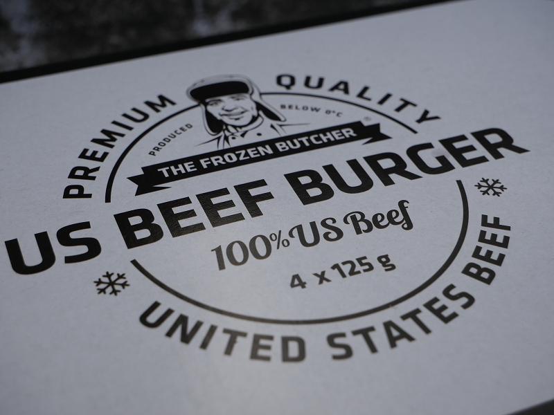 100% US Beef. Lecker!