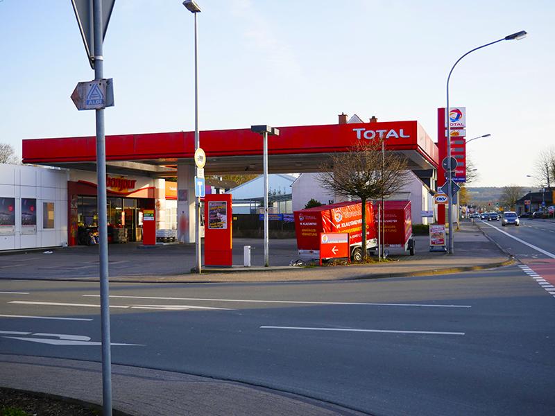 Die Tankstelle an der Münsterstraße in Ibbenbüren