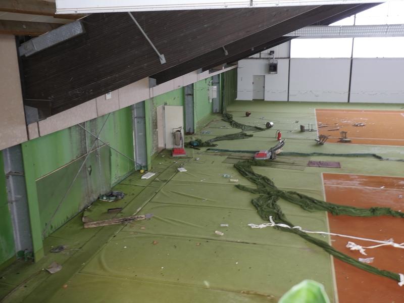 Vandalismus in Halle 1.