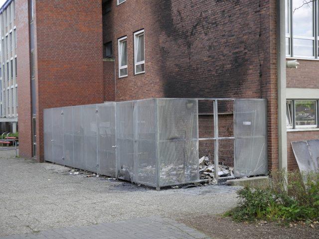 Erneut Müllcontainer am Goethe-Gymnasium in Brand gesetzt