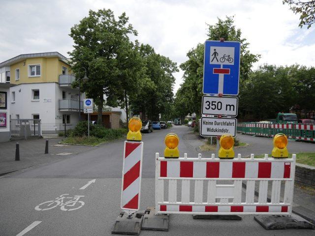 Bauarbeiten: Groner Allee gesperrt
