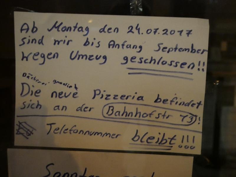 Die Pizzeria Don Camillo zieht um.