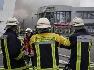 Großbrand in Saerbeck bei SaerTex