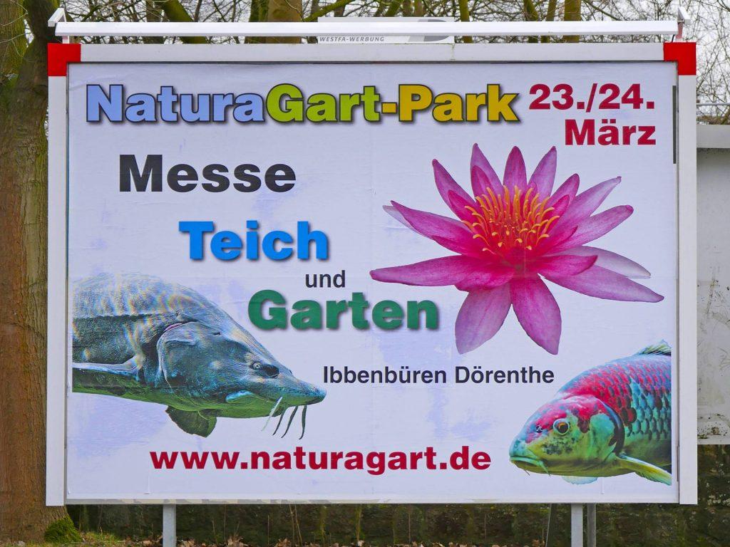 Plakatwand an der Münsterstraße / Blauen Ecke in Ibbenbüren